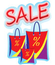 Sale sign three bags banner Royalty Free Stock Photography
