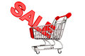 Sale Sign in trolley Stock Photography