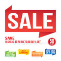 Sale Signage Elements Royalty Free Stock Photo