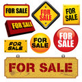 For Sale signs Royalty Free Stock Images
