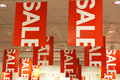 Sale signs Royalty Free Stock Photo