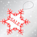 Sale on snowflake Royalty Free Stock Images
