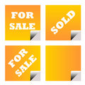 For sale sold business labels Royalty Free Stock Images