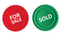For Sale And Sold Icons Royalty Free Stock Photo