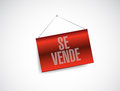 For sale spanish hanging sign. illustration Royalty Free Stock Photo