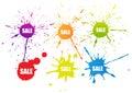 Sale Splatter Color Tag Colorf...