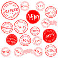 Sale stamp vector set Stock Photography