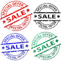 Sale stamps vector illustration of Stock Photo