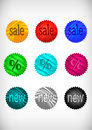 Sale sticker collection illustration of colofrul glossy Stock Photos