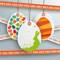 Sale sticker lines white price sticker easter offer piad with on the grey background eps vector file Royalty Free Stock Photo