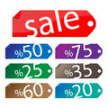 Sale Sticker Set Stock Image