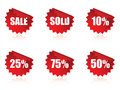 Sale sticker set. Royalty Free Stock Photo