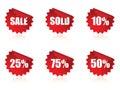 Sale sticker set. Royalty Free Stock Photo