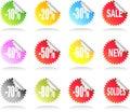 Sale Sticker Set Royalty Free Stock Photo