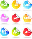 Sale Sticker Set Stock Photo