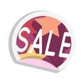 Sale Sticker Vector Illustration in Flat Design