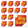 Sale stickers Royalty Free Stock Photos