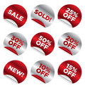 Sale_stickers Royalty Free Stock Photos