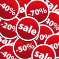 Sale stickers background Stock Image