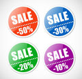 Sale stickers with perforation. Stock Photos