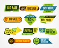 Sale stickers. Price tag label. Banner sticker or abstract flyer. Graphic for offer labels design template vector Royalty Free Stock Photo