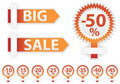 Sale stickers set Stock Images