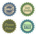 Sale stickers set of four isolated on a white background Stock Photos
