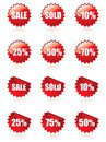 Sale stickers with shadows Stock Photography