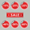 Sale stickers and tags with discounts vector eps Stock Photo