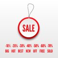 Sale tag d vector illustraton Royalty Free Stock Images