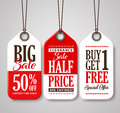 Sale Tag Design Collection Made of Paper with Different Titles for Promotion