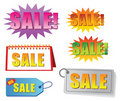 Sale tag and label Stock Image