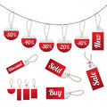 Sale tag set Stock Image