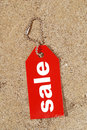 Sale tag for summer Royalty Free Stock Photography