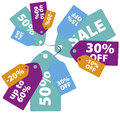 Sale tags colorful design set Stock Photo