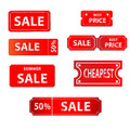 Sale tags design vintage style Royalty Free Stock Photos