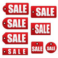 Sale Tags EPS Stock Image