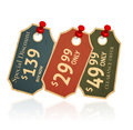 Sale tags old retro vintage grunge for clearance offer and special discount Royalty Free Stock Images