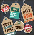 Sale tags price collection Stock Photo