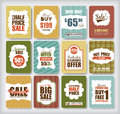 Sale tags set of discount design elements Stock Images