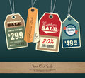 Sale tags set of price tag design Royalty Free Stock Photo