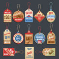 Sale Tags Vector Collection Royalty Free Stock Photo