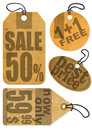 Sale tags vector illustration background Stock Photo