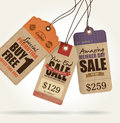 Sale tags vintage style design Royalty Free Stock Photos