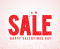 Sale text and happy valentines day greetings in pattern white background