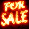 For sale text written on a glowing red background Royalty Free Stock Photo
