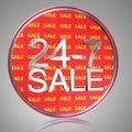 24-7 Sale Royalty Free Stock Photo