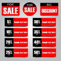 Sale tickets set of elements discount ticket vector illustration Stock Photo