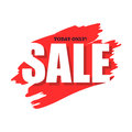 Sale today only flat icon
