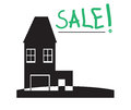Sale two-storey house with a garage